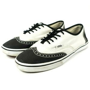 Vans Wingtip Oxford Canvas Lace Up Sneakers
